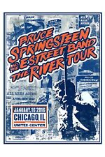 The BOSS: Bruce Springsteen at Chicago United Center 2016 12x18