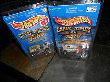 2 CAR LOT EARLY TIMES HOT WHEEL 2000 & 2001 MID-WINTER ROD RUN PHAETON REALRIDER
