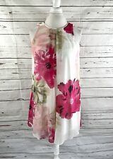 Calvin Klein Women's Shift Dress Sleeveless Beige Floral Size 8 NWOT