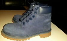 Timberland Boots Kids Boys Size 12.5 Navy Blue