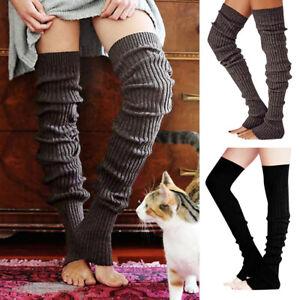 Womens Leg Warmers Winter Warm Soft Over The Knee Warmers Boot Dance Socks Gift