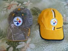 LOT 2 YOUTH PITTSBURGH STEELERS FOOTBALL BASEBALL CAP HAT VINTAGE LOGOATHLETIC