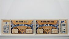 Michigan State vs. Carnegie Tech 1936 College Football Ticket Stubs RARE V67