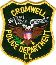Cromwell black backround Police Patch Connecticut CT NEW !!!