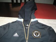 YOUTHS adidas Philadelphia Union Navy MLS NAVY/GOLD Hoodie SWEATER L LARGE NWT