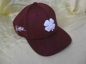 signed Tony Anthony Robbins red BLESS burgundy live lucky clover ball cap hat