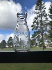 Pint Embossed Milk Bottle Culp Dairy HAMMONDSVILLE OHIO O