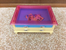 2002 Barbie Doll Decor Collection House Coffe Table Drawer Living Room Furniture