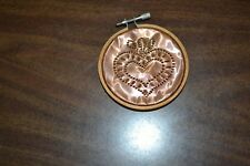 Folkart copper punched hole country heart design ornament/decor- patina
