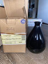 Longaberger Pottery Woven Traditions Ebony Black Reed Diffuser/Bud Vase NIB