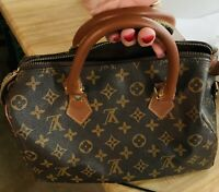 Authentic Louis Vuitton Brown Monogram PreLoved VINTAGE Speedy 30 Purse Bag