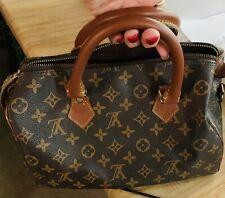 Authentic Louis Vuitton Brown Monogram PreLoved VINTAGE Speedy 30 Purse Bag