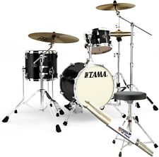 TAMA VP36MJS-PBK Silverstar Metro Jam Kit Shell Set + KEEPDRUM Hocker + Sticks