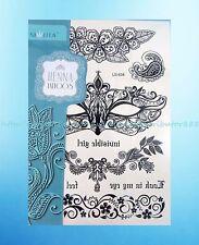 Black lace henna feminine temporary tattoo waterproof tatoo women