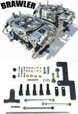 QUICK FUEL BR-67212-B2 650 CFM BLOWER SUPERCHARGER CARBS BLACK FUEL LINES COMBO