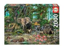 """New EDUCA Jigsaw Puzzle 2000 Tiles Pieces """"African Jungle"""" by John Enright"""