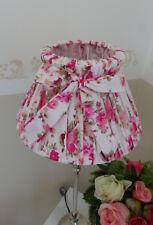 Lampenschirm Tischlampe Schirm Schleife rund Rose auf Rosa Ø25cm / E27 Landhaus