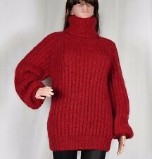 Hand Knitted WOOL Mohair Pullover , Ladies Sweater, Turtlenecks * fuzzy Jumper