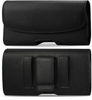 Horizontal Black Holster Belt Clip Case Pouch FOR Nokia Lumia 1520