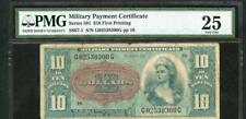 New listing 10 Dollar Military Payment Certificate Series 591 Pmg 25 Please Lqqk!