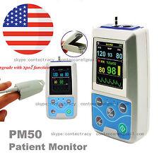 CONTEC 24h Test Portable Digital Ambulatory SPO2+NIBP Blood Pressure Patient,USA