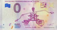 BILLET 0  EURO DEUTSCHES FEUERWEHRMUSEUM ALLEMAGNE 2019  N° PALINDROME 656