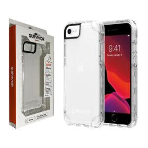 Griffin Survivor Strong Tough Case for Apple iPhone SE (2020) 8 7 & 6 6s - Clear