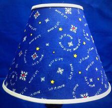 Let It Snow Lamp Shade Snowflakes Xmas Winter Lampshade