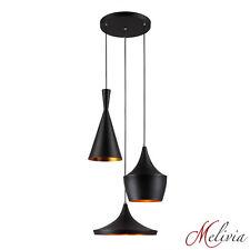 Lámpara Colgante Moderna Negro Oro 3x40w Lámpara Colgante Péndulo Lámpara