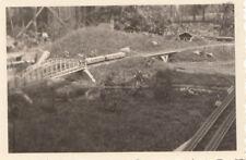 org. photo 6x9 cm modèle Chemin de fer dans le plein air parkanlage (g4105)