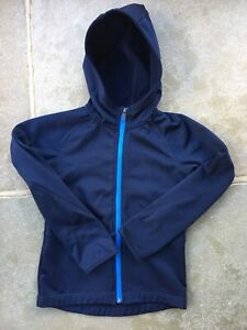H&M Navy Zipped Hooded Softshell Jacket Size 6-8 Years