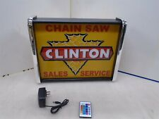 Clinton Chain Saw sales Service LED Display light sign box