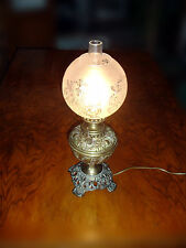 Plume & Atwood vintage Kerosene Lamp Made in the US, now Electric 1869-1900
