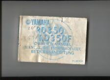 YAMAHA RD 350/RD 350 F    : manuel d'entretien  1984  français  english deutsch