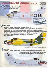 Print Scale Decals 1/72 DASSAULT MD 450 OURAGAN French Jet Fighter
