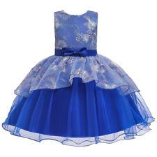 Flower Girl Tutu Dress Mesh Baby Formal Princess Party Kids Wedding Bridesmaids