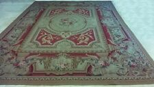 """Handmade Tapestry Weave Aubusson """"Chateau Versailles"""" (Not NeedlePoint) 9x12"""