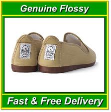 Genuine Beige Flossy Shoes Size UK2.5 EU35 Canvas Plimsoll Espadrilles Flossys