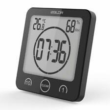 Waterproof Clock Digital Timer Bathroom Shower Temperature Humidity Time Meter