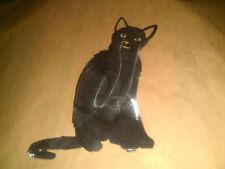 Cat kitty feline halloween yard garden stake metal art feline BLKCT04