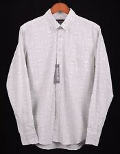 NWT Reyn Spooner Nishikie Light Gray Geometric Abstract Hawaiian Shirt M NEW