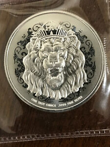 2021 Niue Silver Roaring Lion Head 1 oz $2 BU