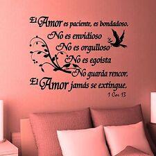 Wall Decal. Inspirational Wall Decal. Christian Decor. Biblia. 1 Corintios 13
