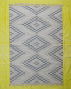 Geometric Kilim Rugs Wool Living Room 5x7 foot Handwoven Carpet Pastel Colour
