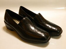 ARAVON Kiley Women's Slip On Loafers Shoes Leather Black Sz 6 B Med NIB $129.95