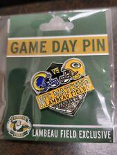 Los Angeles Rams AT/VS Green Bay Packers Game day Pin 11/28/2021 Lambeau FIELD