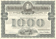 LAKE SHORE MICHIGAN SOUTHERN RAILWAY bond certificate
