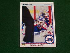 bob essensa (winnipeg jets-goalie) 1990/91 upper deck ROOKIE card #122 nr/mint
