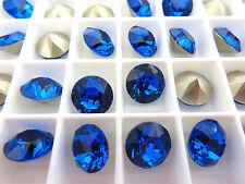 6 Capri Foiled Swarovski Crystal Chaton Stone 1088 39ss 8mm