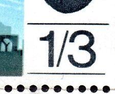 1965 Sg 678 1s3d Battle of Britain Line Under Value Shorter Flaw (R. 20/3)